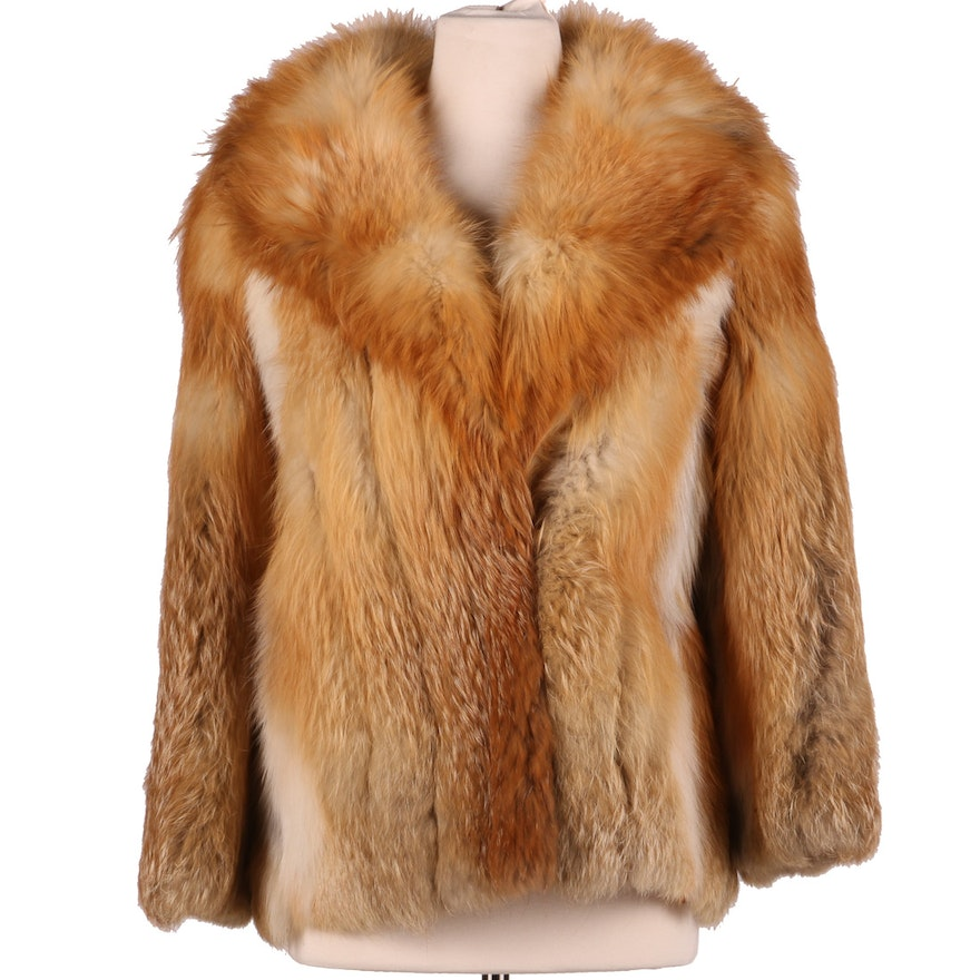 Fur Salon Red Fox Fur Jacket