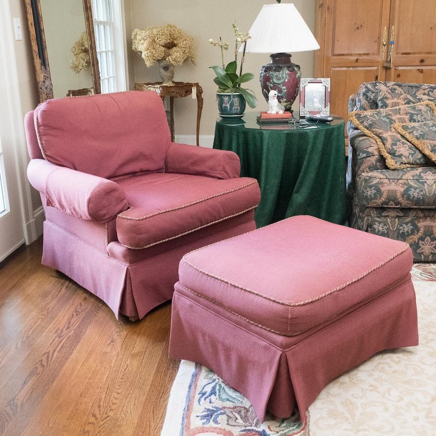 Southwood Club Chair and Ottoman : EBTH