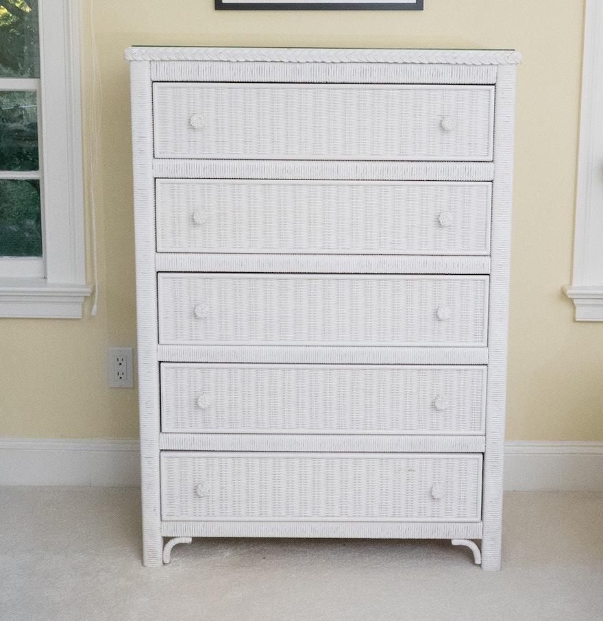 henry link lexington wicker chest of drawers ebth. Black Bedroom Furniture Sets. Home Design Ideas