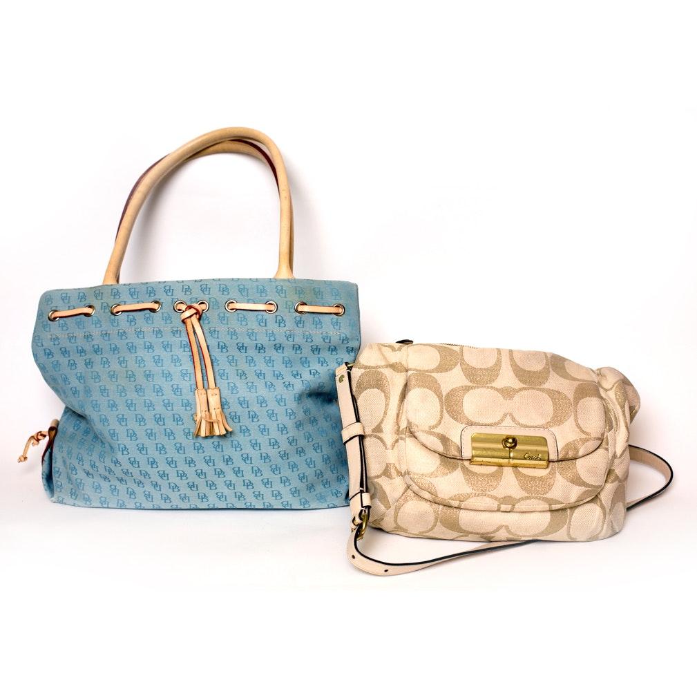 Coach and Dooney & Bourke Fabric Handbags