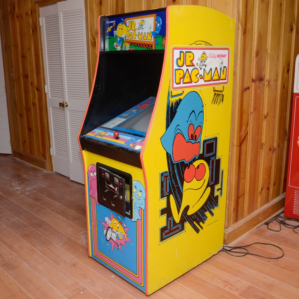 Bally Midway Jr. Pac-Man Upright Arcade Game