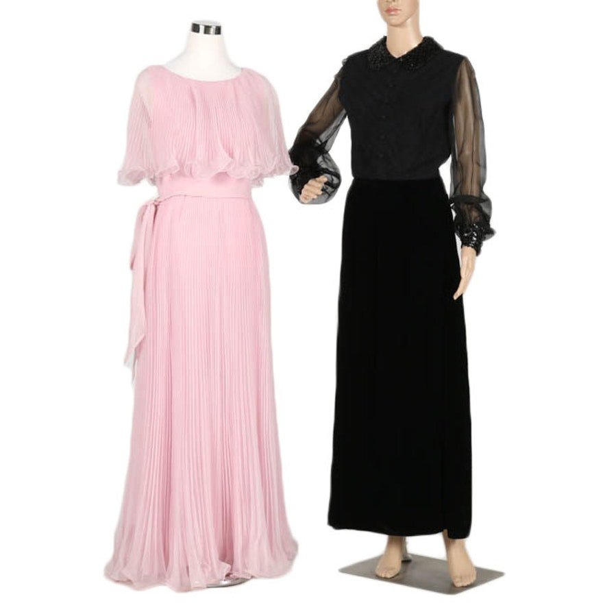 Pair of 1970s Evening Gowns : EBTH