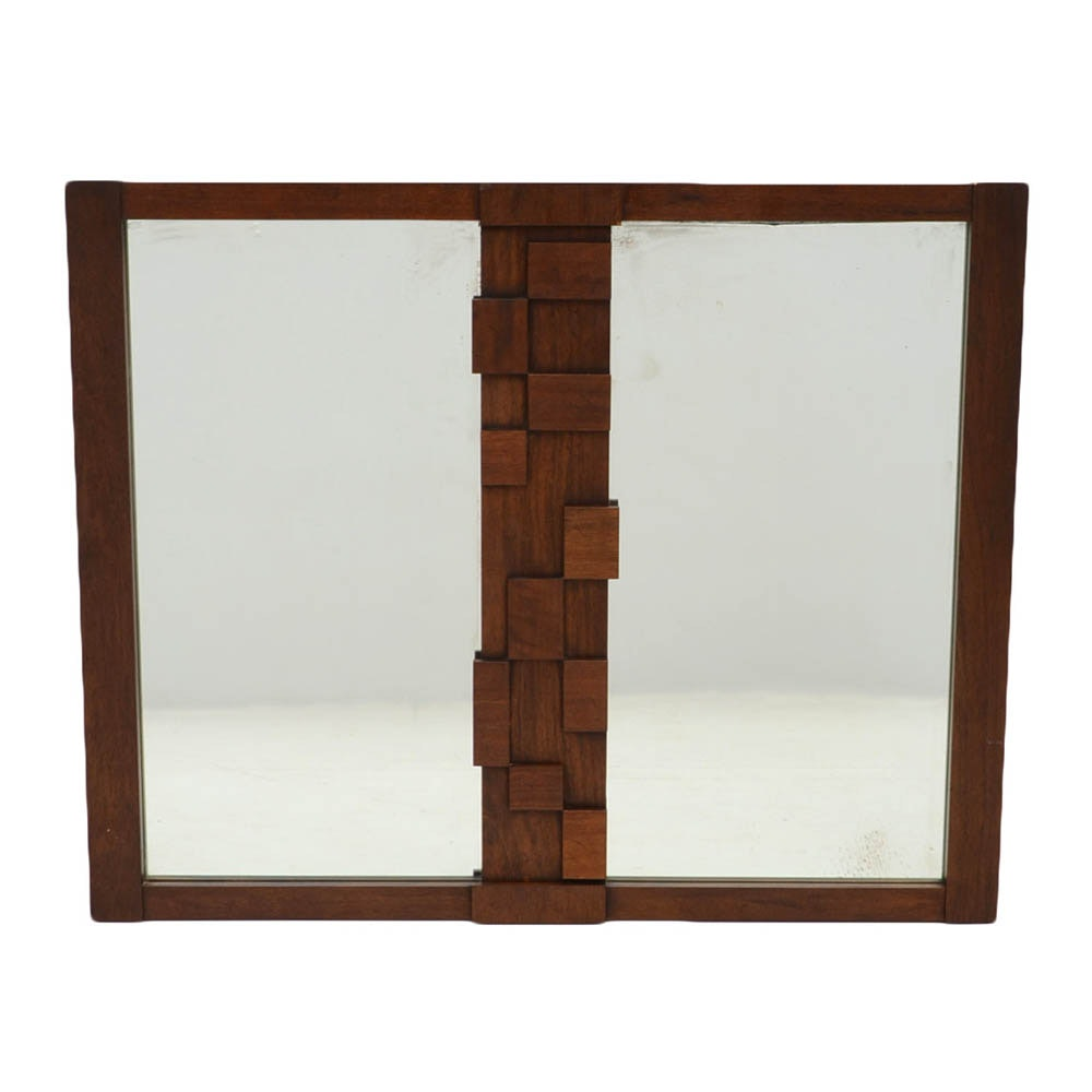 Lane Brutalist Style Wall Mirror