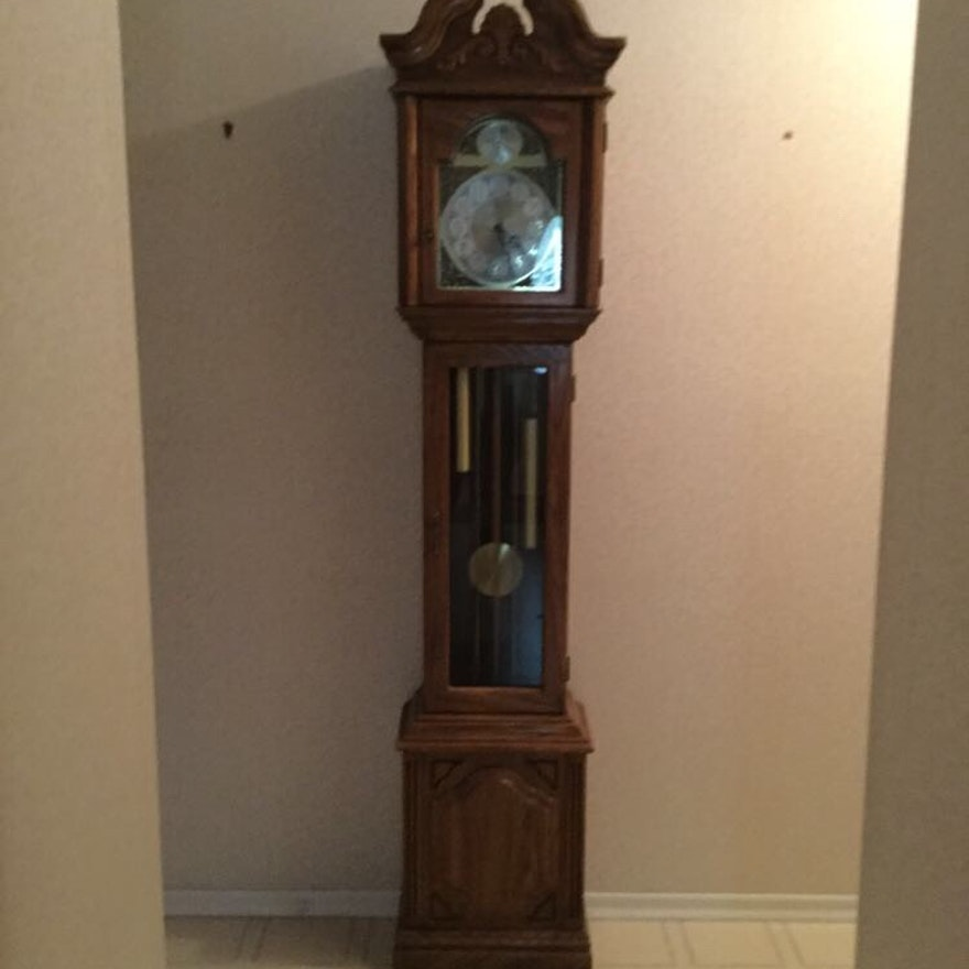 Contemporary Tempus Fugit Grandfather Clock Ebth
