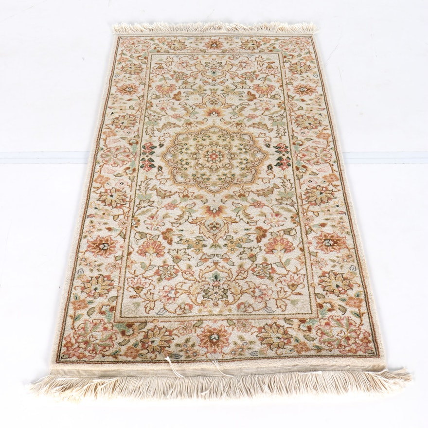 Persian Hand Woven Bakhtiari Style Wool Area Rug Ebth: Power Loomed Persian-Style Accent Rug