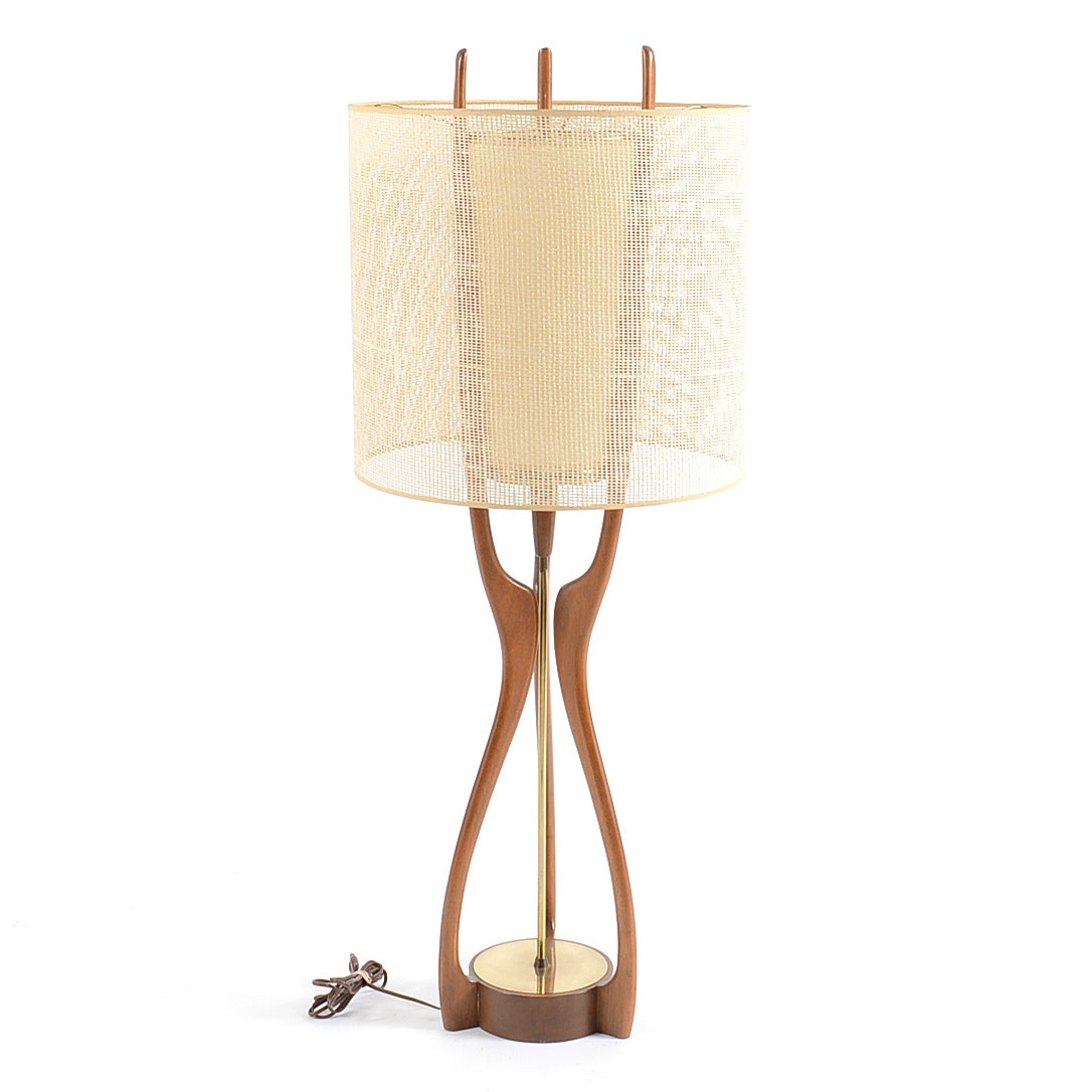 Modeline Walnut Table Lamp by Adrian Pearsall