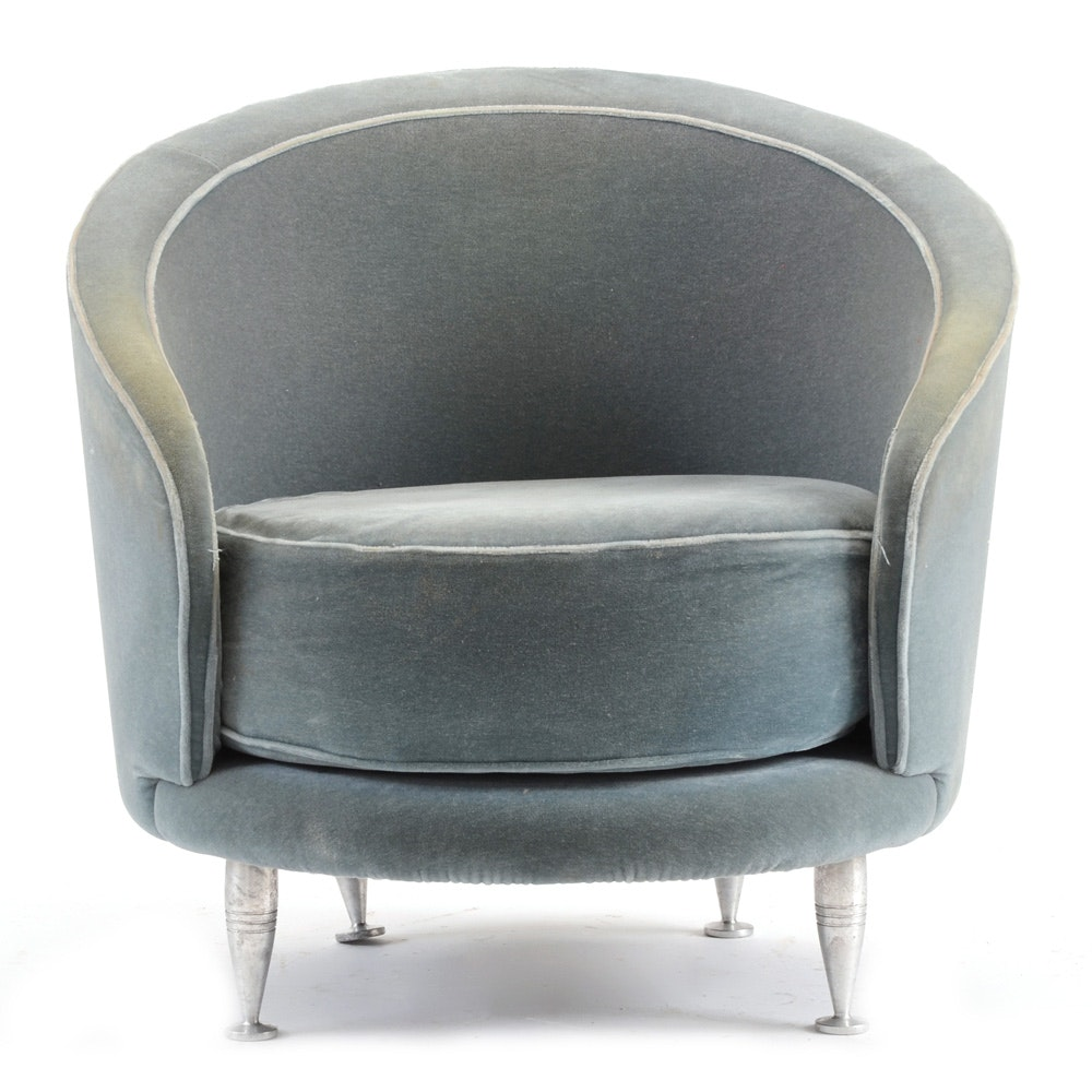 Italian Mohair Club Chair by Massimo Isoa Ghini for Moroso