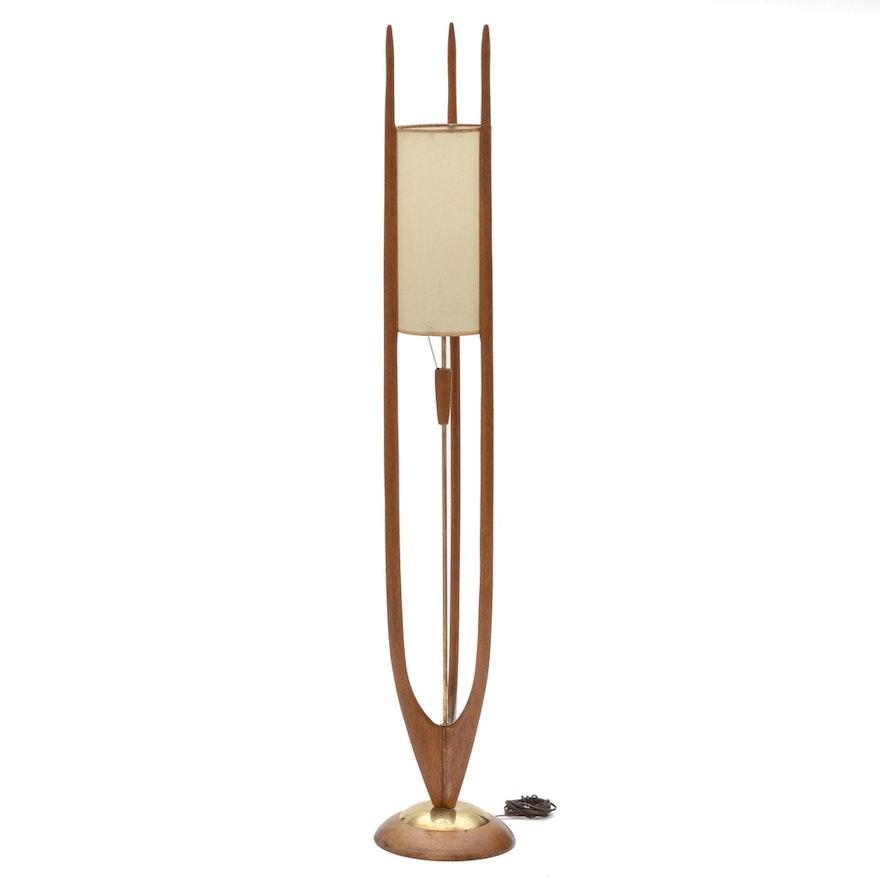 Modeline Walnut Floor Lamp By Adrian Pearsall Ebth