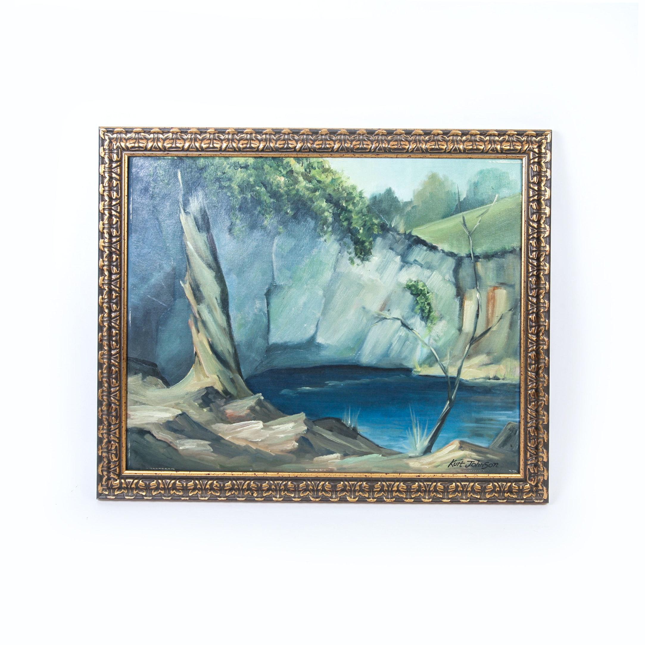 Kurt Johnson Framed Oil Piece