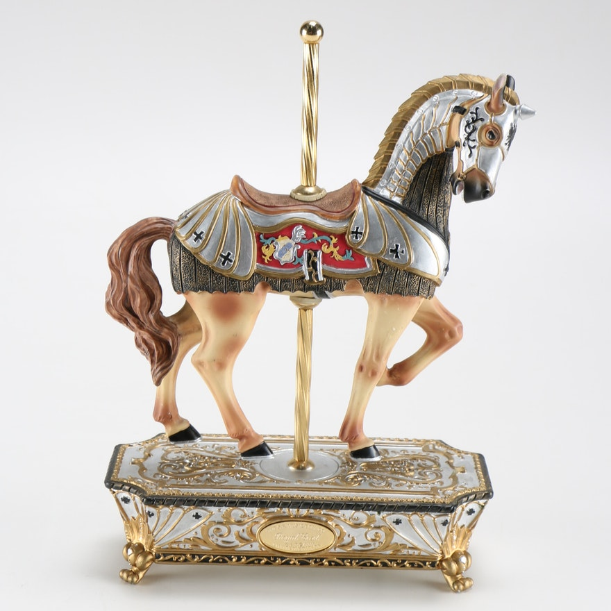 San Francisco Music Box Company Royal Crest Carousel Horse Ebth