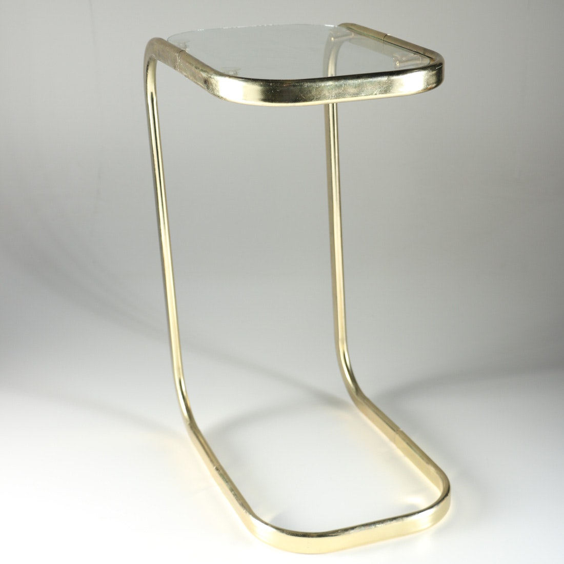 Brass And Glass C Side Table ...