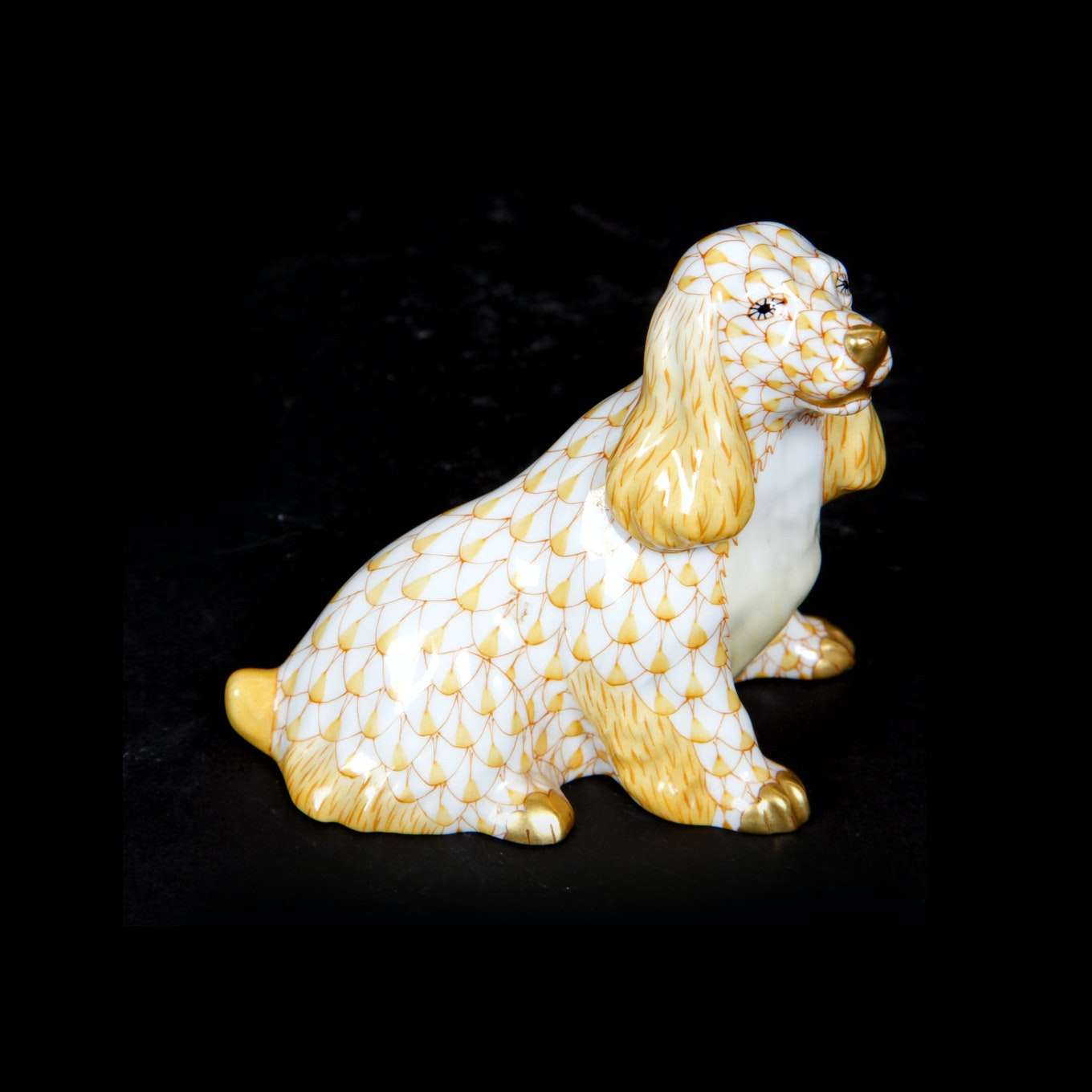 Herend Hand Painted First Edition Cocker Spaniel Figurine