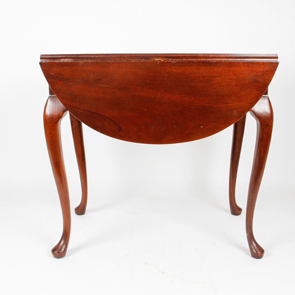 Small Queen Anne Style Drop Leaf Table Ebth