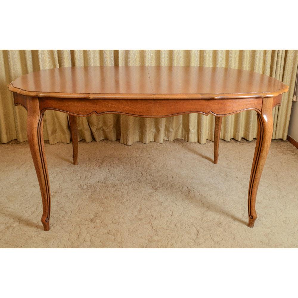vintage pecan thomasville dining table ebth vintage pecan thomasville dining table
