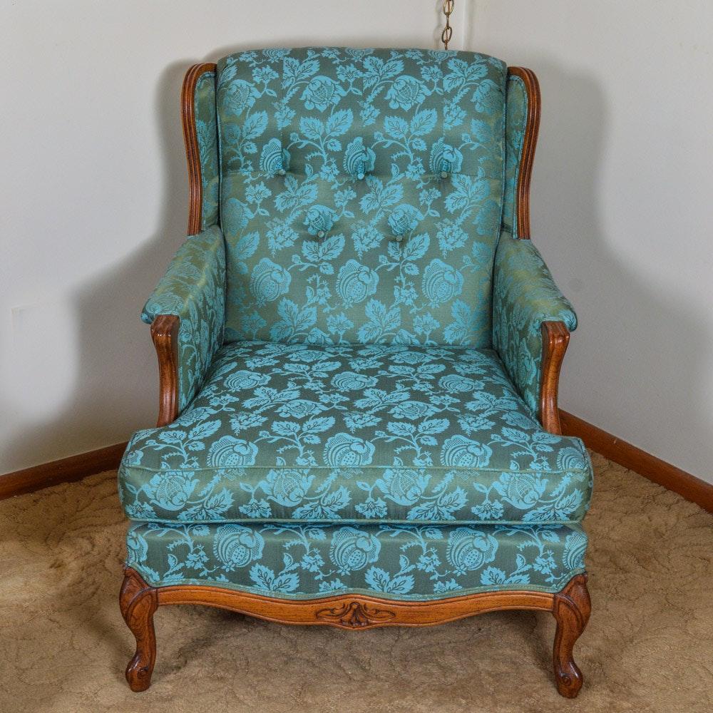 Vintage Custom Upholstered Carlie's Wingback Chair