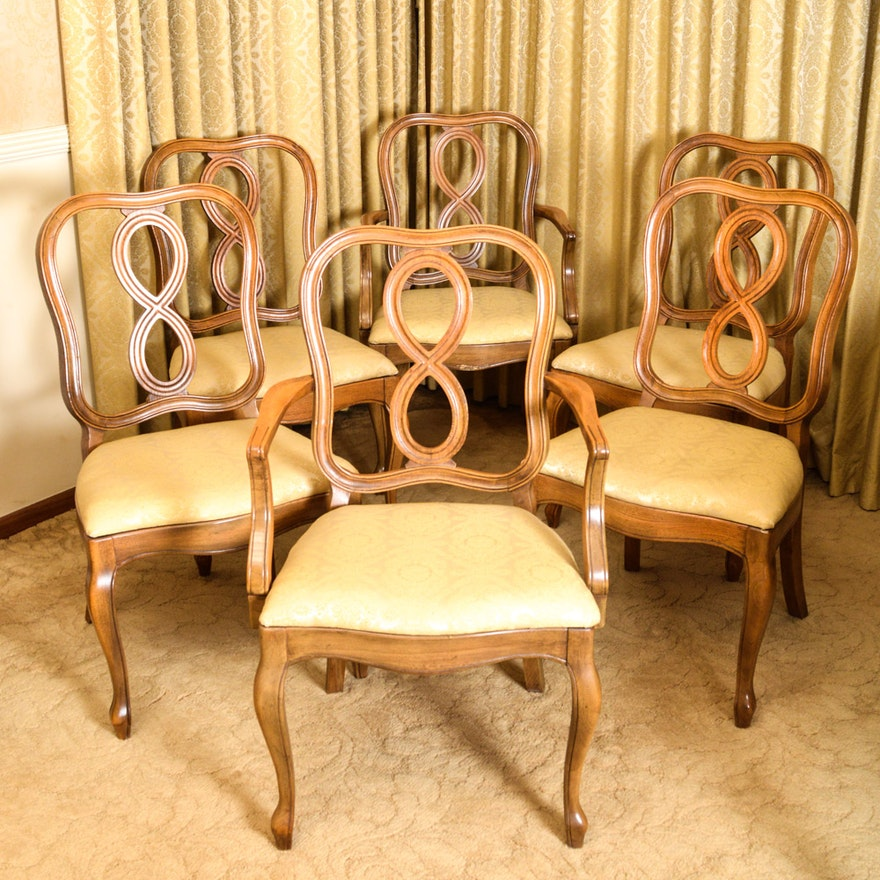 - Set Of Six Vintage Thomasville Dining Chairs : EBTH