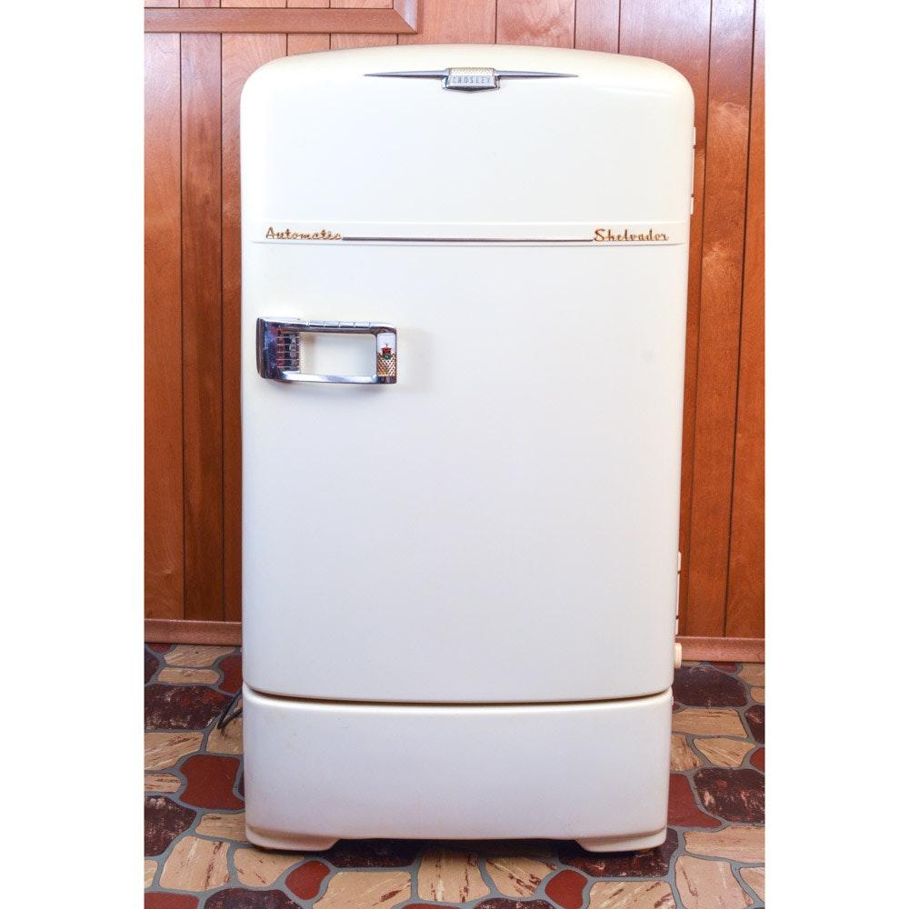 1950s Crosley Shelvador Automatic Refrigerator Ebth