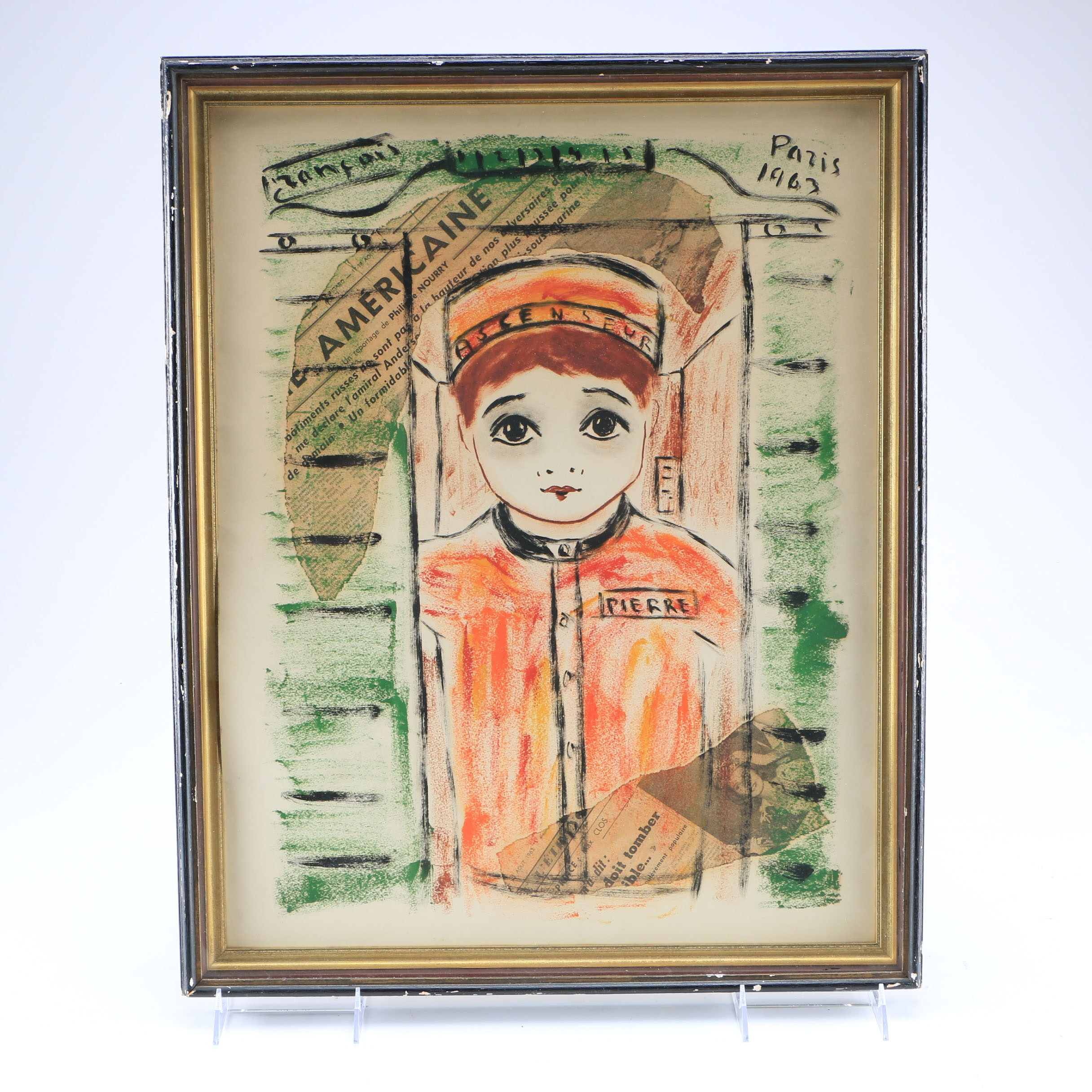 Mixed Media Art of a French Bellboy