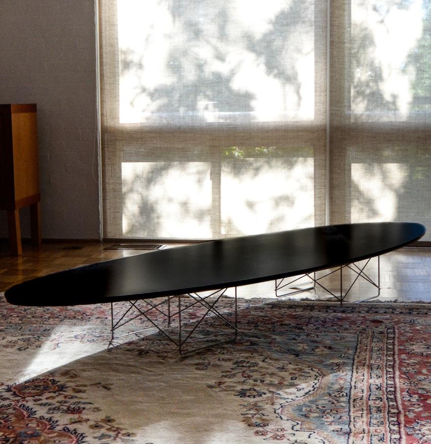Eames Elliptical Surfboard Coffee Table Ebth