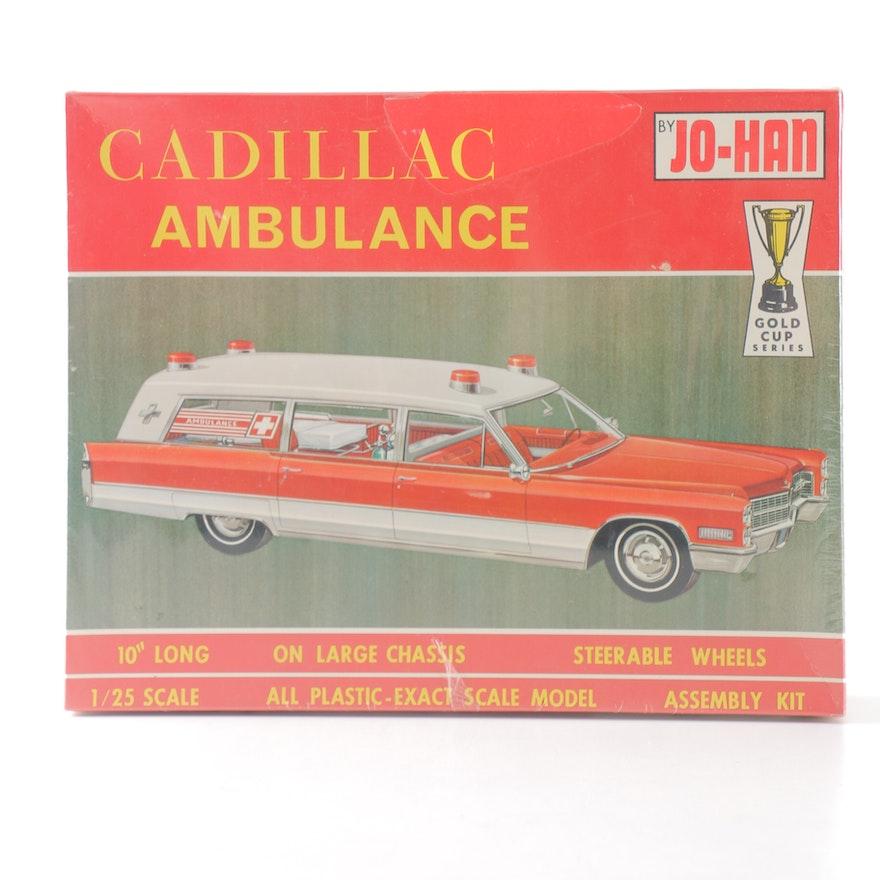 1966 Cadillac Ambulance Model Kit By Johan