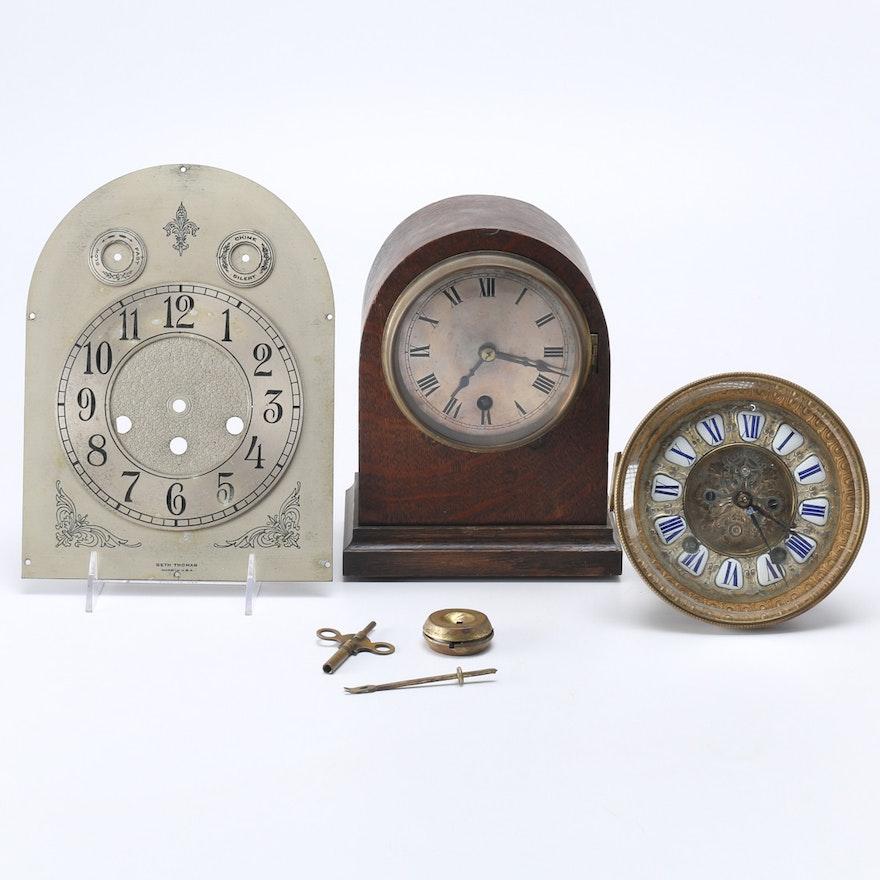 Assortment Of Clock Parts Including Seth Thomas Ebth