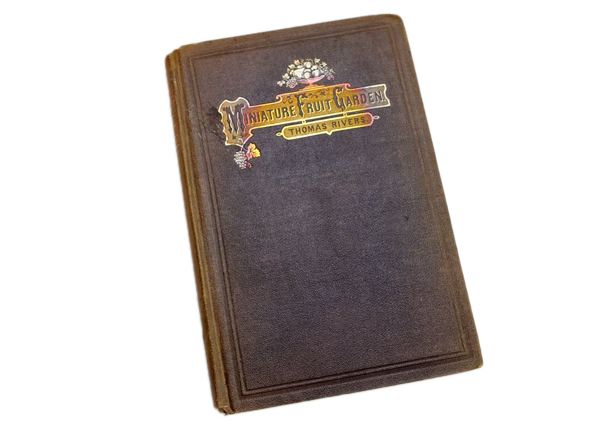 """Hardcover Edition of """"Miniature Fruit Garden"""" by Thomas Rivers"""