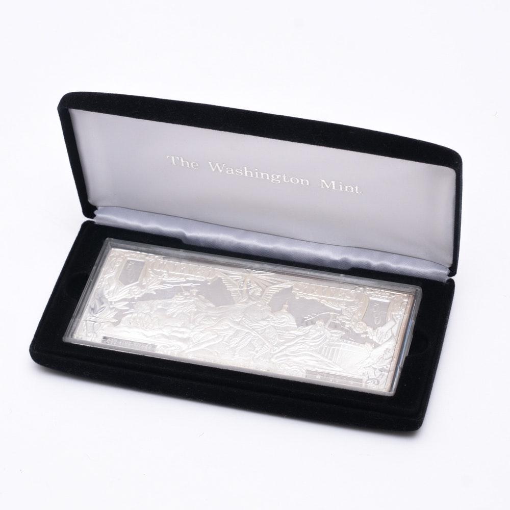 .999 Silver 500 Dollar Half Pound Bullion Bar