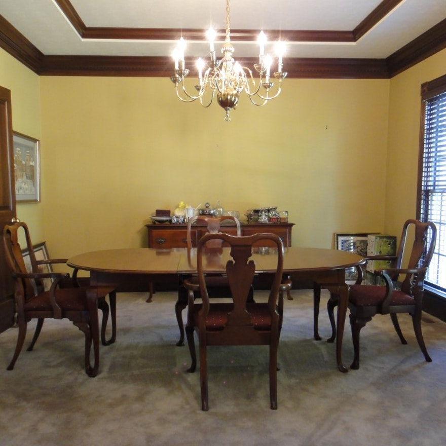 Cool Queen Anne Dining Table Chairs By Hickory Chair Co Caraccident5 Cool Chair Designs And Ideas Caraccident5Info