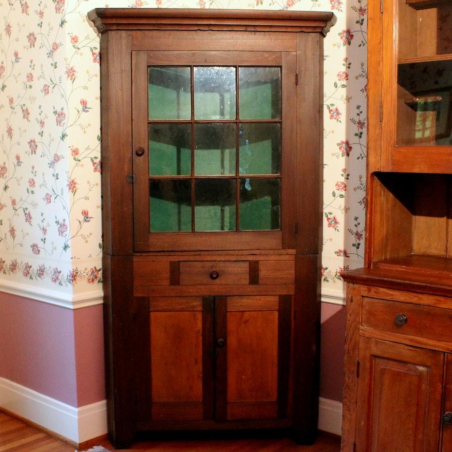 Antique Corner China Cabinet ... - Antique Corner China Cabinet