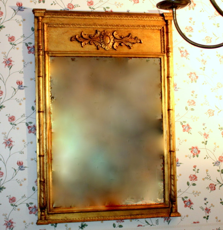 Antique empire style wall mirror ebth for Antique style wall mirror