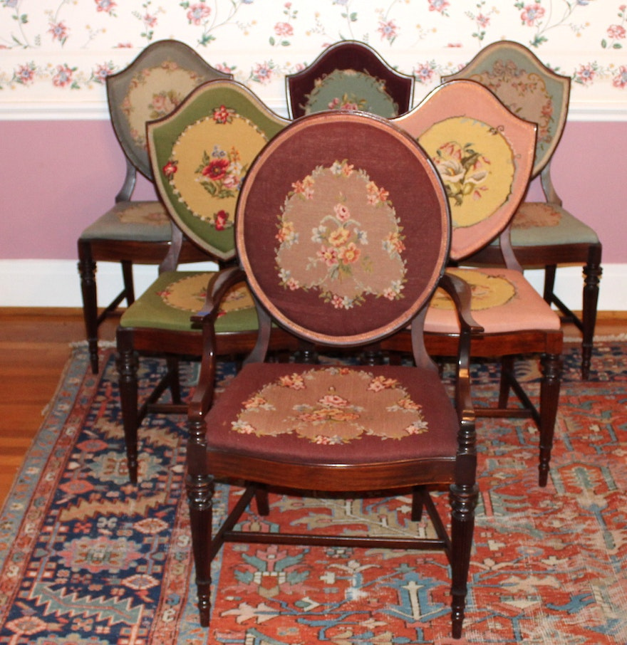 Antique victorian dining chairs - Set Of Antique Victorian Dining Chairs
