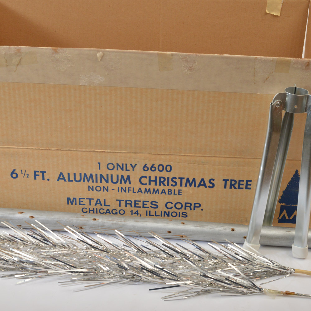 Mid-Century Metal Trees Corporation 6 1/2 Feet Aluminum Christmas ...