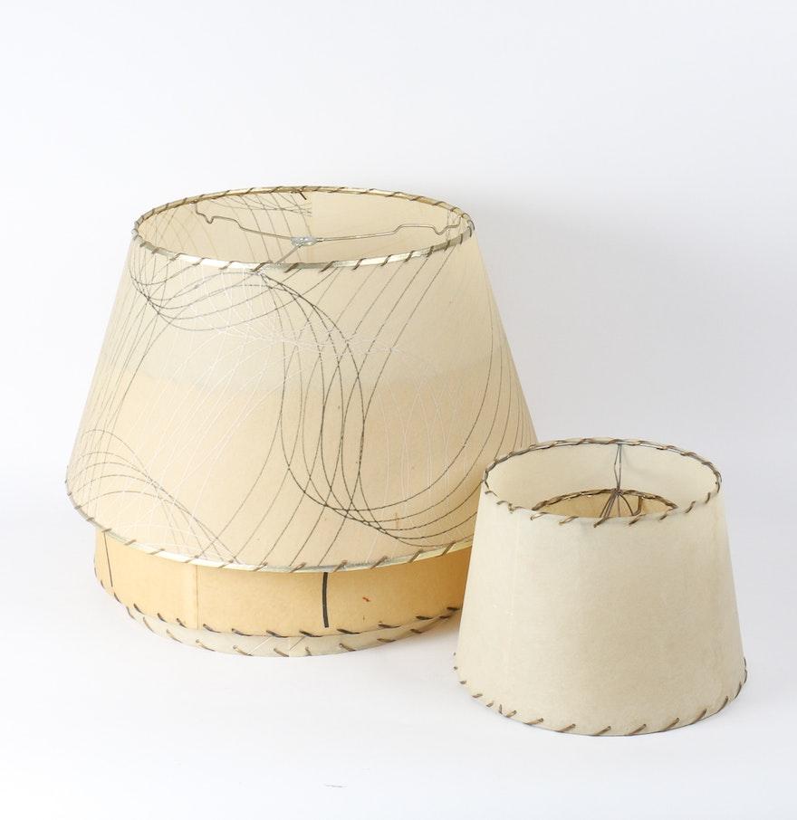Vintage fiberglass lamp shades ebth vintage fiberglass lamp shades mozeypictures Gallery
