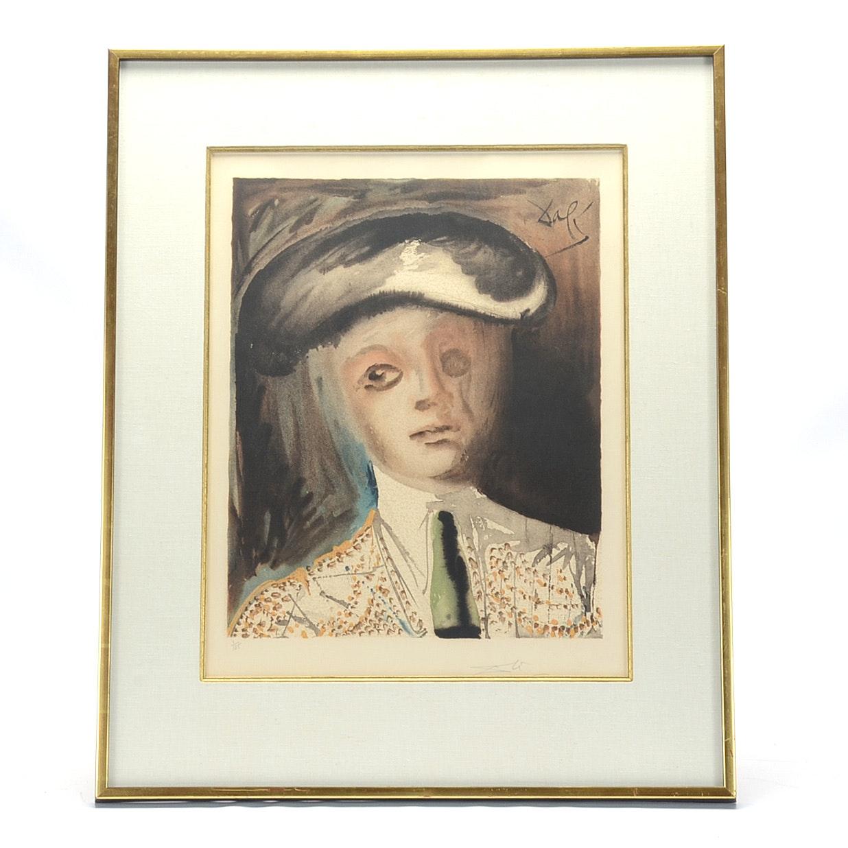 "Salvador Dalí Signed Lithograph ""Carmen: Portrait of the Bullfighter Hero, Escamillo"""