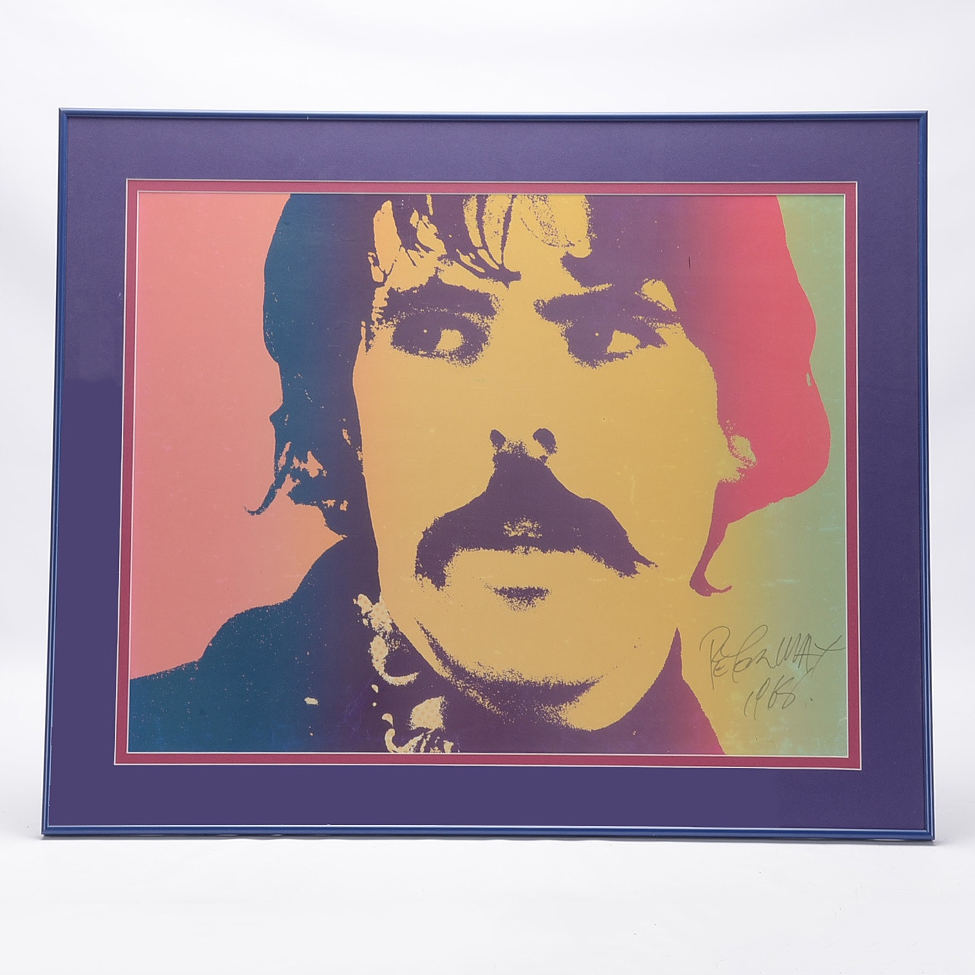 Peter Max Original Signed Self-Portrait Lithograph