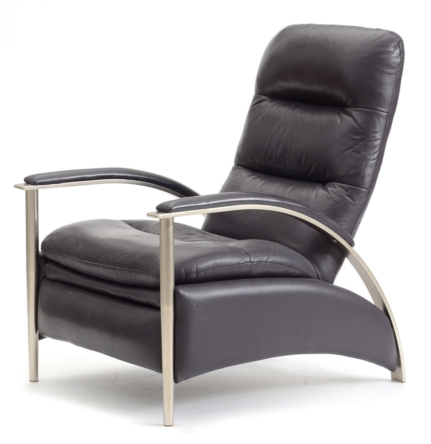 Modern leather recliners - Ethan Allen Modern Style Leather Recliner