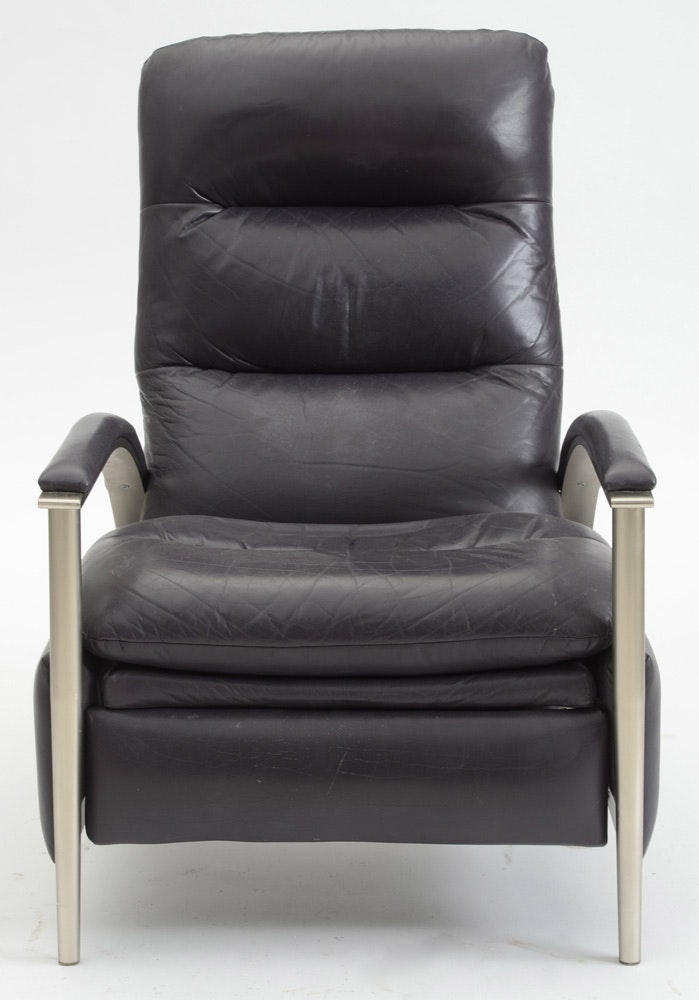 Ethan Allen Modern Style Leather Recliner Ebth