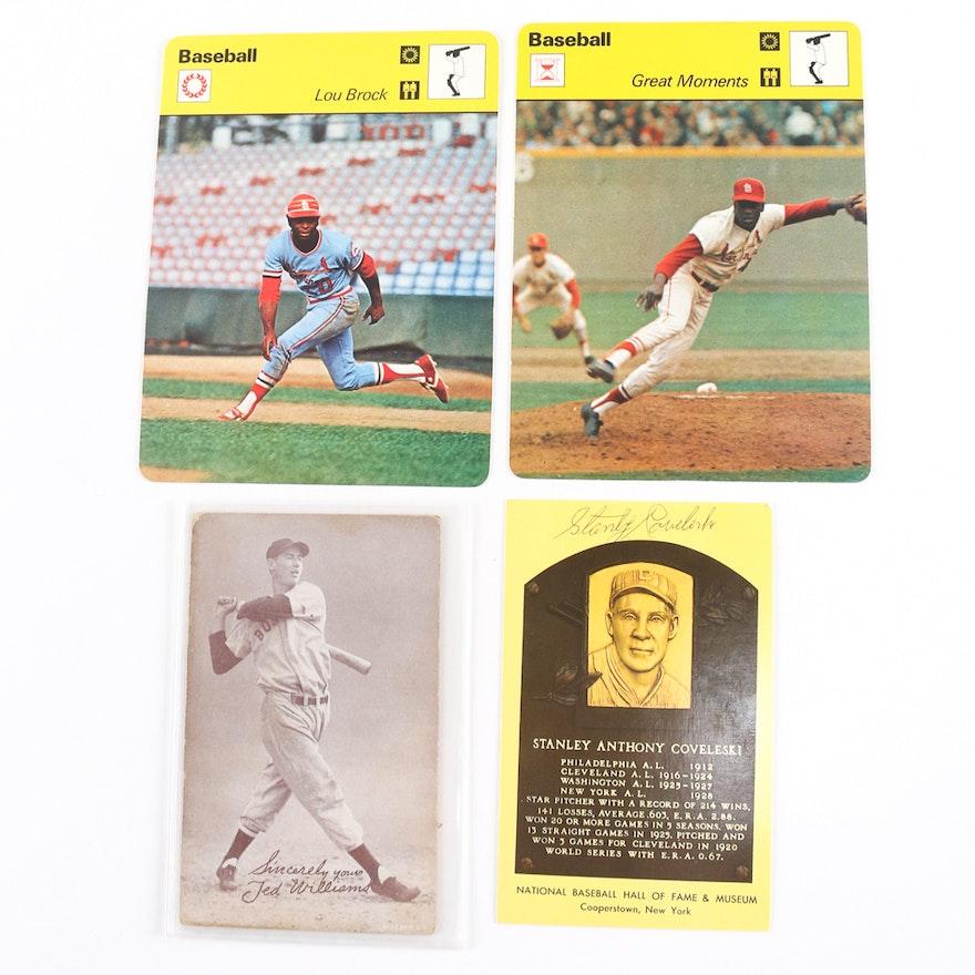 Assorted Hall Of Fame Baseball Cards