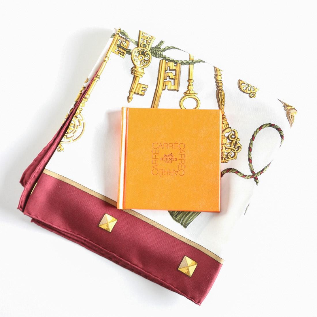 "Hermès ""Les Clés"" Silk Scarf and Mini Book"