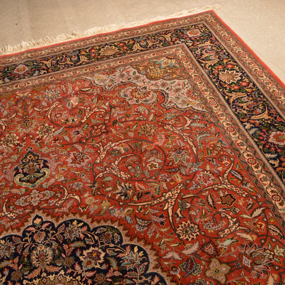 Large red tabriz area rug ebth for Large red area rugs