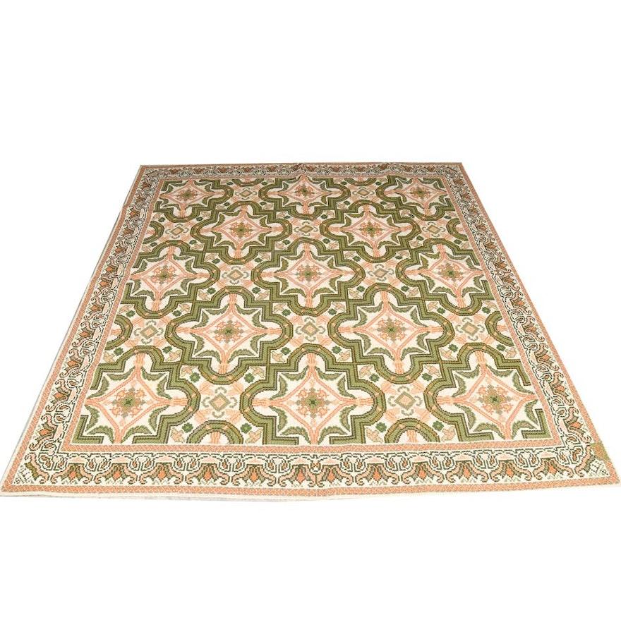 Needlepoint casa caiada brazilian handmade area rug ebth for Custom made area rugs