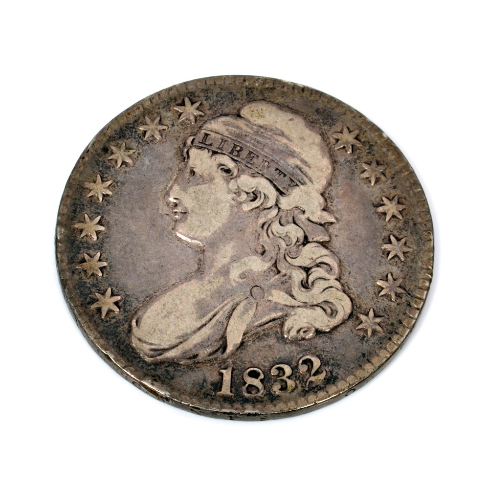 1832 Capped Bust Silver Half-Dollar