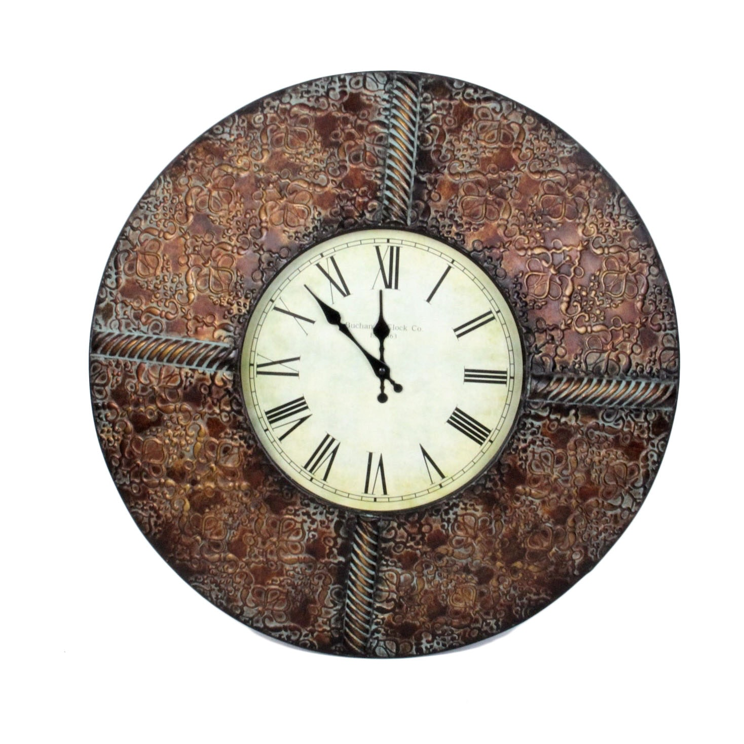 Buchanan Clock Co. Round Metal Wall Clock : EBTH