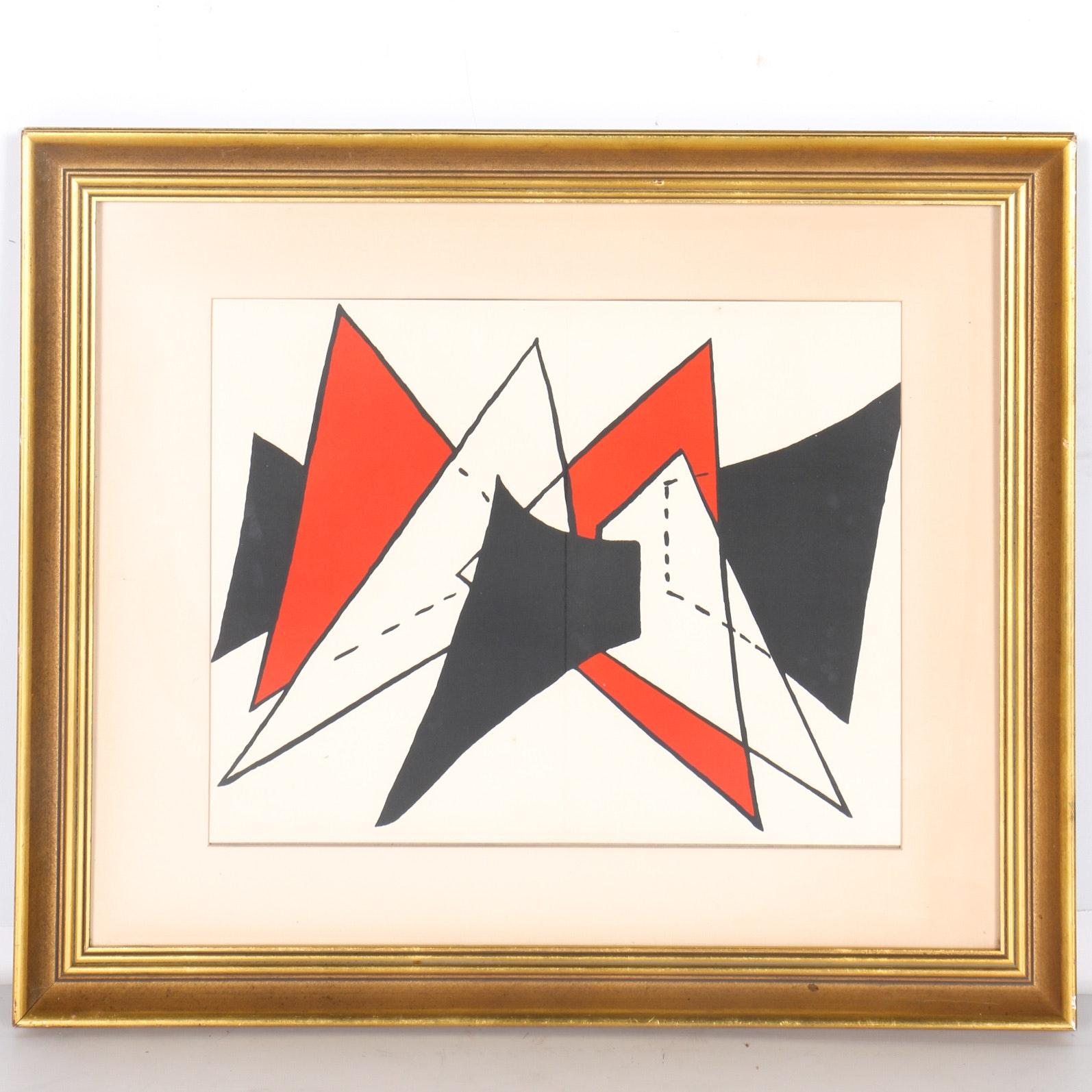 "Alexander Calder Color Lithograph on Paper ""Stabiles"""