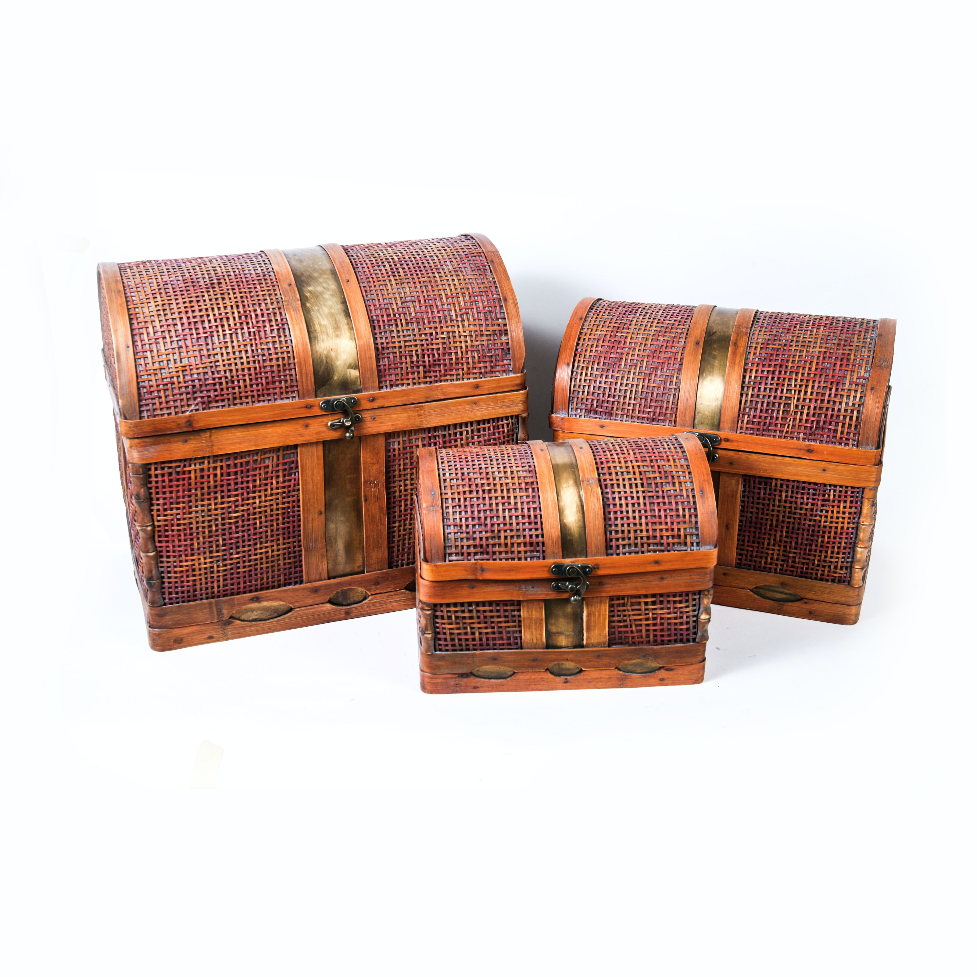 Nesting Wicker Trunk Set