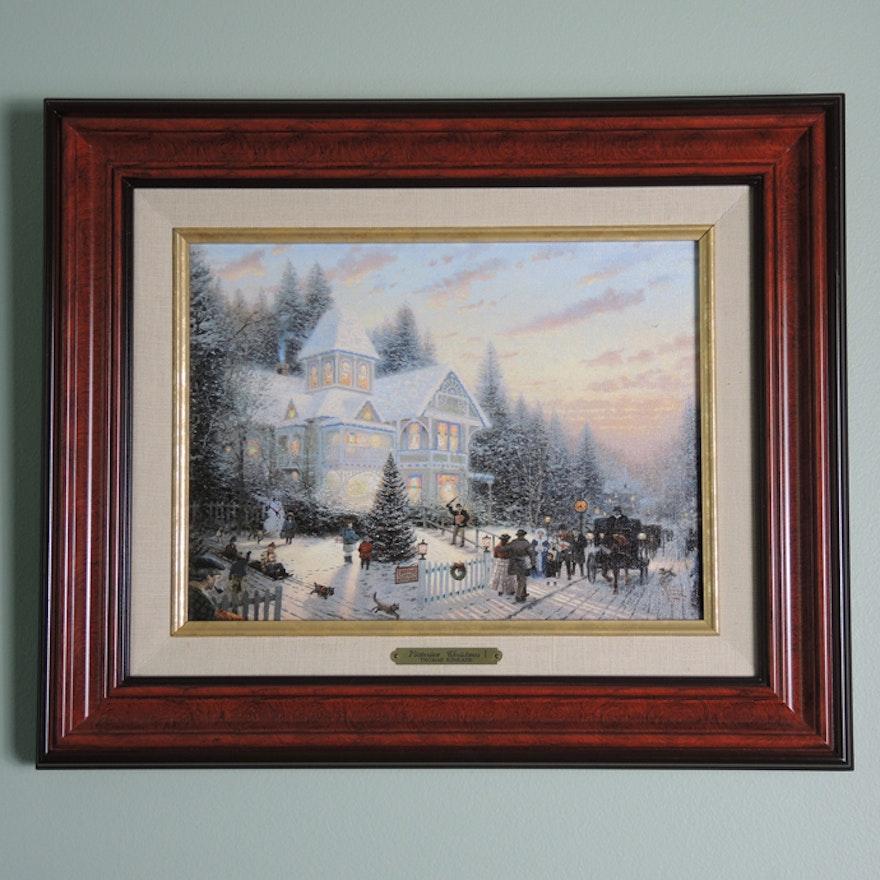 Thomas Kinkade Victorian Christmas I Framed Print : EBTH