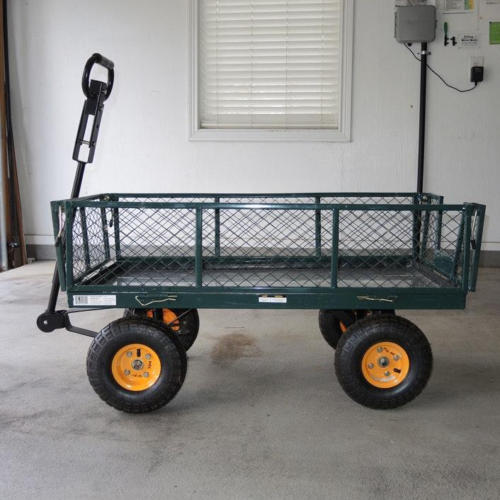 Tricam Metal Garden Cart With Sidewalls ...