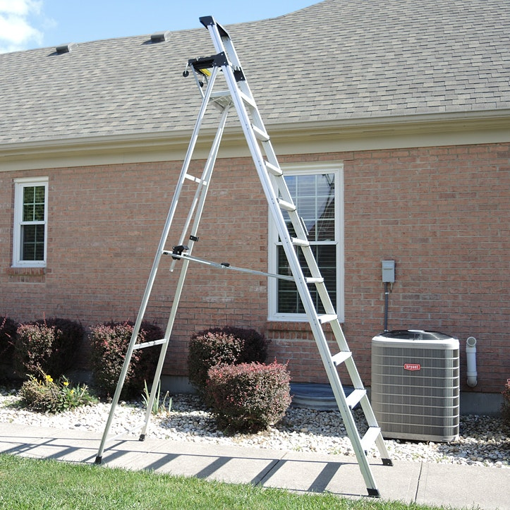 12 Foot Aluminum Step Ladders : Werner ft wood step ladder and aluminum ebth