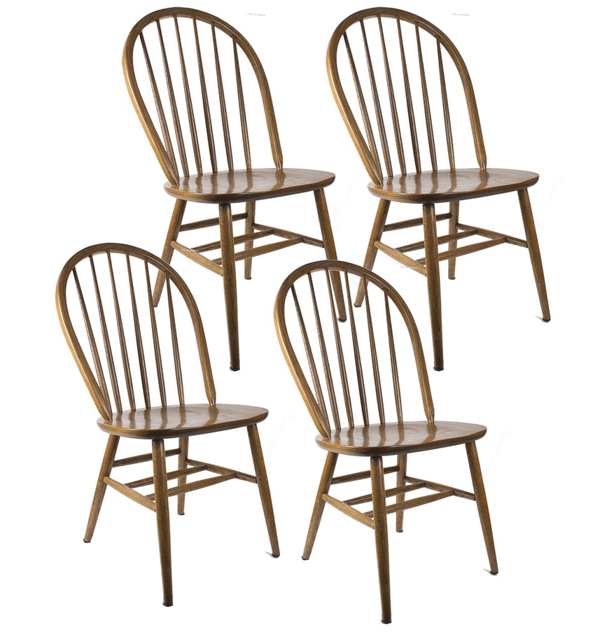 Bow Back Dining Chairs ~ Oak bow back dining chairs ebth