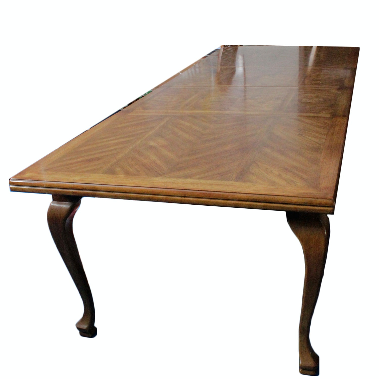 Large Drexel Heritage Oak Dining Table ...